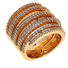 Real Collectibles by Adrienne® Pavé Swirl Band Ring