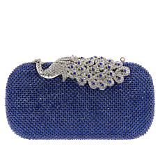 Real Collectibles  Jeweled Crystal Peacock Evening Bag