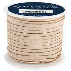 """Realeather Crafts Suede Lace .125"""" x 25 yd Spool - Beige"""