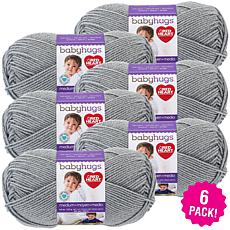 Red Heart Baby Hugs Medium Yarn 6-pack - Dolphin