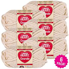 Red Heart Grande Yarn 6-pack - Aran