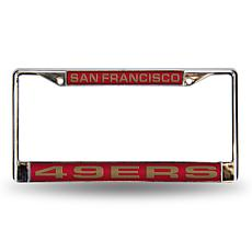 Red Laser Chrome License Plate Frame - SF. 49ers