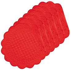 Red Round Placemat Set of 6