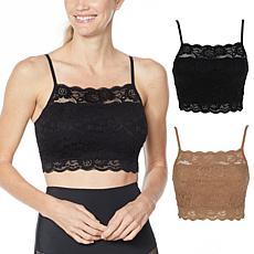 Rhonda Shear 2-pack Lace Camisole Bra
