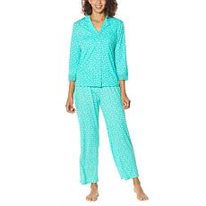 Rhonda Shear 2-piece Printed 3/4 Sleeve Lounge Set