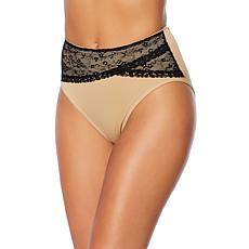 Rhonda Shear 2pk Seamless Lace Overlay Brief Set