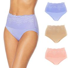 Rhonda Shear 3-pack Lace Overlay Ahh Brief