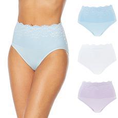 Rhonda Shear 3-pack Lace Overlay Brief