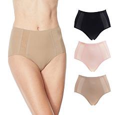 Rhonda Shear 3-pack Mesh Detail Panty