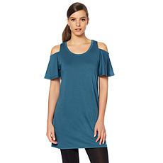 Rhonda Shear Ahh Dreams Flutter Sleeve Tunic