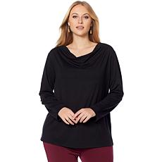 Rhonda Shear Cowl Neck Lace Top