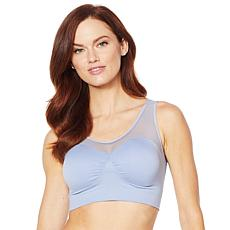 Rhonda Shear Seamless Bra with Mesh