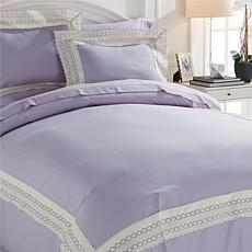Richard Mishaan Cotton Lace 3-piece Duvet Set
