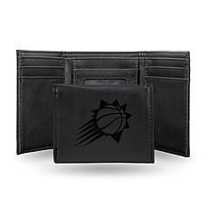 Rico Laser-Engraved Black Tri-fold Wallet - Suns