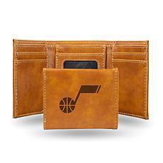 Rico Laser-Engraved Brown Tri-fold Wallet - Jazz
