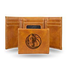 Rico Laser-Engraved Brown Tri-fold Wallet - Mavericks