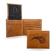 Rico NBA Laser-Engraved Brown Billfold Wallet - Magic