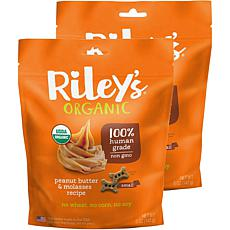 Riley's Organics  Peanut Butter & Molasses Small Bone Dog Treats 2 ...