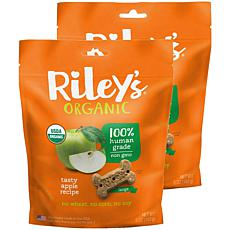 Riley's Organics  Tasty Apple Large Bone Dog Treats 2 Pack 5 oz pac...