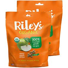 Riley's Organics  Tasty Apple Small Bone Dog Treats 2 Pack 5 oz pac...