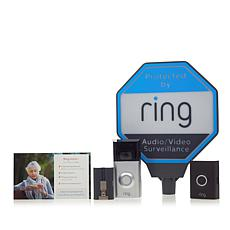Ring Security Video Doorbell 2 with Solar Sign and Ring Assist+