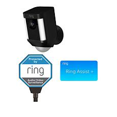 Ring Spotlight HD Camera with Solar Yard Sign and Ring Assist+