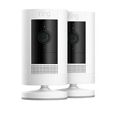 Ring Stick Up Security Cam 2-pack with Extra Battery and Ring Assist+