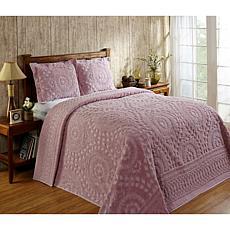 Rio Collection  100% Cotton Tufted Chenille Bedspread - Queen