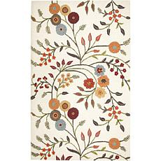 Rizzy Home Dimensions Ivory Floral Rug - 3' x 5'