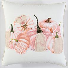 "Rizzy Home Harvest Pumpkins 20"" x 20"" Decorative Throw Pillow"