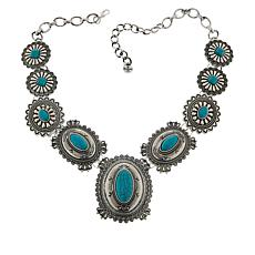 "R.J. Graziano 21"" Simulated Turquoise Western Necklace"