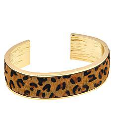 R.J. Graziano Animal Print Cuff Bracelet