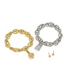 R.J. Graziano Chain Reaction 2-piece Bracelet Set with Sud Earrings
