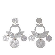"R.J. Graziano ""Global Entry"" Geometric Textured Drop Earrings"