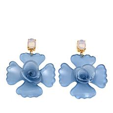 R.J. Graziano Large Resin Flower Drop Earrings