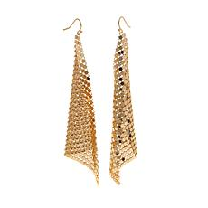 "R.J. Graziano ""Shine in Chic"" Mesh Drop Earrings"