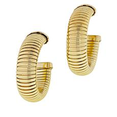 R.J. Graziano Snake Chain Hoop Earrings