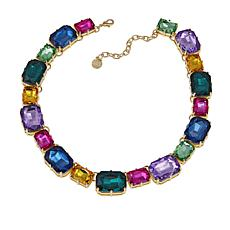 "R.J. Graziano ""Sparkle Sparkle"" 17-1/4"" Multicolor Station Necklace"