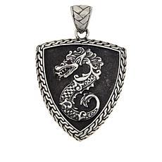 """Robert Manse """"BroManse"""" Men's Ruby Dragon Shield Pendant"""