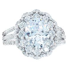 "Robert Manse ""CZ RoManse"" Oval Halo Statement Ring"