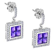 "Robert Manse ""Gem RoManse"" Sterling Silver Amethyst and Topaz Earrings"