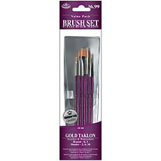 Royal Langnickel Gold Taklon 5-Piece Brush Set