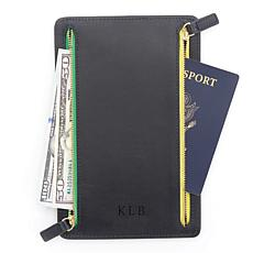 Royce Leather Personalizable RFID Four-Zipper Travel Case