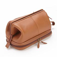 Royce Men's Nappa Leather Toiletry Bag