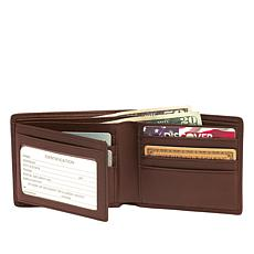 Royce Personalized Leather RFID-Blocking Bifold Wallet