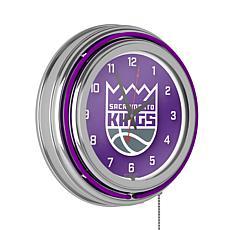 Sacramento Kings Double Ring Neon Clock