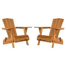 Safavieh Breetel Set of 2 Adirondack Chairs