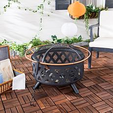 Safavieh Bryce Round Fire Pit with Screen