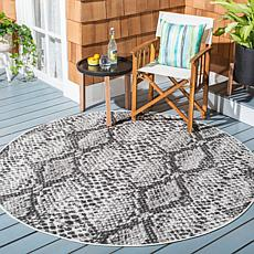 "Safavieh Courtyard Aurora 6'-7"" Round Indoor/Outdoor Rug"