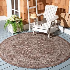 "Safavieh Courtyard Owen 6'-7"" Round Indoor/Outdoor Rug"